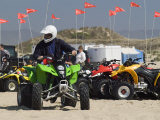 ATV Riders in Dunes Photographic Print by Brent Winebrenner