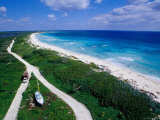Coastline of Punta Sur Park, Isla Cozumel, Quitana Roo, Mexico Photographic Print by Richard Cummins