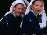 Women of Dao Tien Ethnic Group Blacken Their Teeth, Cao Bang, Vietnam Photographic Print by Stu Smucker