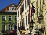 Historic Buildings Lining Hlavne Nam, Bratislava, West, Slovakia Photographic Print by Glenn Beanland