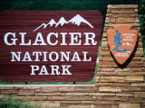 Glacier National Park Sign, Glacier National Park, Montana Photographic Print by Holger Leue