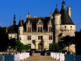 Entry to 16th Century Chateau de Chenonceau, Chenonceaux, Centre, France Photographic Print by John Elk III