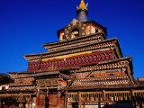 Stupa of Dachang Lamo Kirti Monastery, Langmusi, Gansu, China Photographic Print by Krzysztof Dydynski