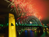 Fireworks over Sydney Harbour Bridge, New Year's Eve, Sydney, New South Wales, Australia Photographic Print by Oliver Strewe
