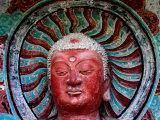 Buddha Statue in Cave No 5, Haystack Mountain Grottoes, Maiji Shan, Gansu, China Photographic Print by Krzysztof Dydynski