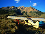 Pilot of Ultralight Plane Taking Camping Excursion, Near Borah Peak, Idaho Photographic Print by Holger Leue
