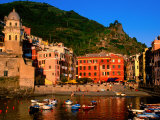 Harbour with Fishing Boats, Vernazza, Cinque Terre, Liguria, Italy Photographic Print by John Elk III