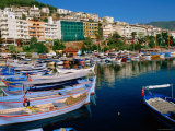 Town Buildings and Marina Boats, Alanya, Antalya, Turkey Photographic Print by John Elk III