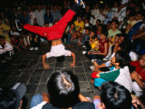 Youth Breakdancing with Crowd in Park on Dong Khoi Street, Ho Chi Minh City,  Vietnam Photographic Print by Stu Smucker