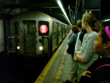 Train on New York Subway, New York City, New York Photographic Print by Dan Herrick