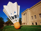 Giant Shuttlecock Sculpture at Nelson-Atkins Museum of Art, Kansas City, Missouri Photographic Print by Richard Cummins
