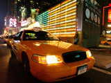 Taxi, Times Square, New York City, New York Photographic Print by Dan Herrick