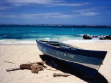 Fishing Boat, Sam Lord&#39;s Beach, St Philip Photographic Print by Holger Leue