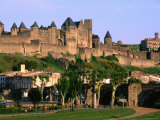 Languedoc Roussillon Carcassonne La Cite, 12th Century Castle, Carcassonne, France Photographic Print by John Elk III