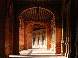 Parque Maria Luisa, Plaza de Espana, Palacio Espanol Gallery, Sevilla, Andalucia, Spain Photographic Print by David Tomlinson