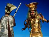 Costumed Street Entertainers, Paris, Ile-De-France, France Photographic Print by Dan Herrick