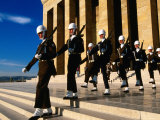 Changing of Guard at Anit Kabir Mausoleum at Ataturk Monument, Ankara, Turkey Photographic Print by John Elk III
