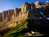 View of Gruppo Sella from Passo Gardena, Dolomites, Italy Photographic Print by Witold Skrypczak