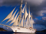 Star Clipper Under Full Sail Stampa fotografica di Holger Leue