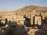 Traditional Houses, Old Town, San'a, Yemen Photographic Print by Holger Leue