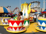 Coney Island Attractions, New York City, New York Photographic Print by Dan Herrick
