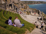 Minack Theatre Carved into the Cliffs Overlooking Porthcurno Bay, Minack, Cornwall, England Photographic Print by Glenn Beanland