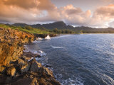 Poipu Beach, Cliffs, Kauai, Hawaii Photographic Print by John Elk III