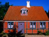 Historic House Facade, Aero Island, Funen, Denmark Photographic Print by John Elk III
