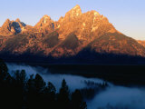 Grand Teton at Sunrise, from Snake River Overlook, Grand Teton National Park, Wyoming Photographic Print by Holger Leue