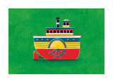 Mississippi Steam Boat Print by Simon Hart