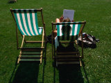 Deck Chairs in Hyde Park, London, Greater London, England Photographic Print by Doug McKinlay