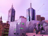 Federation Square at Dusk, Melbourne, Victoria, Australia Photographic Print by John Banagan