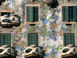 Detail of Gaudi's Casa Batilo, Barcelona, Catalonia, Spain Photographic Print by John Elk III