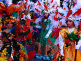 Folk Dance Group Preparing for Parade at Annual Feria de la Chinita, Zulia, Venezuela Photographic Print by Krzysztof Dydynski