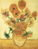 Vase of Fifteen Sunflowers, c.1888 Posters av Vincent van Gogh