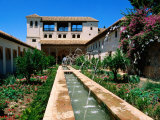 Patio de la Acequia, Generalife, Alhambra, Granada, Andalucia, Spain Photographic Print by John Elk III