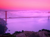 Golden Gate Bridge at Dawn in Fog, San Francisco, California Photographic Print by Richard Cummins