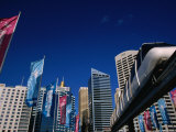 The Monorail at Darling Harbour, Sydney, New South Wales, Australia Photographic Print by Greg Elms