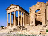 Remains of Roman Temple, Sbeitla, Kairouan, Tunisia Photographic Print by Ariadne Van Zandbergen