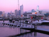 New Quay Harbour at Dusk, Melbourne, Victoria, Australia Photographic Print by Greg Elms