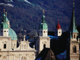 Belltowers of Church, from Monschberg Hill, Salzburg, Salzburg Province, Austria Photographic Print by Izzet Keribar