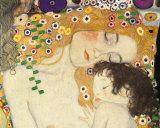 Äiti ja lapsi - Yksityiskohta maalauksesta Naisen kolme ikää (Mother and Child - detail from The Three Ages of Woman), noin 1905 Julisteet tekijänä Gustav Klimt