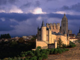 Alcazar on Stormy Day, Segovia, Castilla-Y Leon, Spain Photographic Print by John Banagan