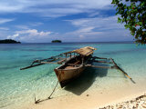 Remote Beach on Pulau Togean, Togian, Central Sulawesi, Indonesia Photographic Print by Greg Elms