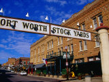 Stockyards District, Fort Worth, Texas Photographic Print by Richard Cummins
