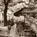 Cafe, Aix-en-Provence Affiche par Alan Blaustein