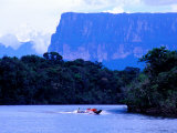 Travelling by Boat Up Carrao and Churun Rivers to Angel Falls, Bolivar, Venezuela Photographic Print by Krzysztof Dydynski