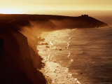 Misty Coastline, Sunrise, Kangaroo Island, South Australia Photographic Print by Holger Leue