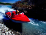 Jet-Boating on Smaller North Branch of Rakaia River, New Zealand Photographic Print by Paul Kennedy