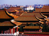Tiled Roofs of Forbidden City from Jingshan Park, Beijing, China Photographic Print by Krzysztof Dydynski